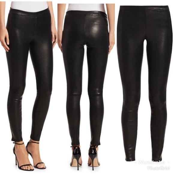 J Brand Pants - 🆕J Brand Skinny EDITA Leather Leggings- Cream